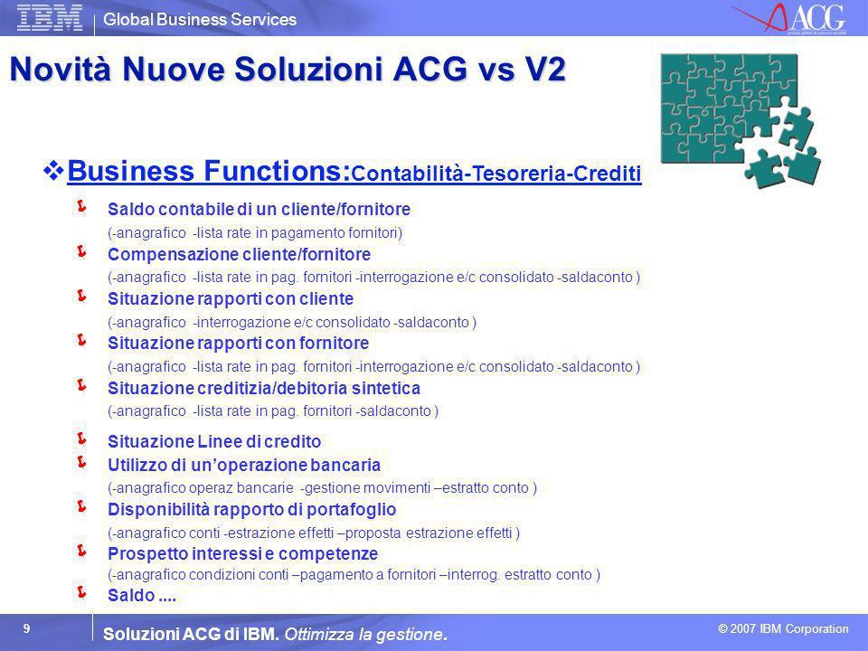 Novità Nuove Soluzioni ACG vs V2