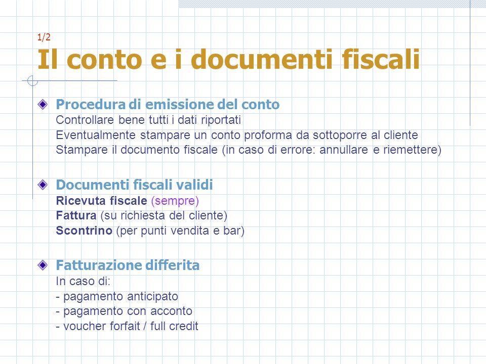 1/2 Il conto e i documenti fiscali