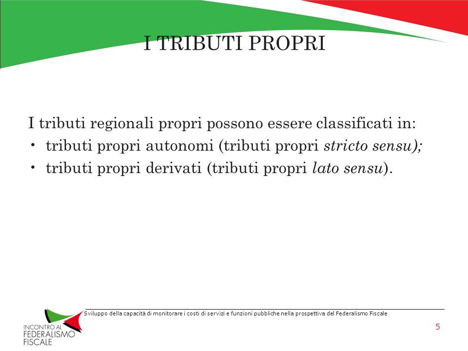 I TRIBUTI PROPRI I tributi regionali propri possono essere classificati in: tributi propri autonomi (tributi propri stricto sensu);