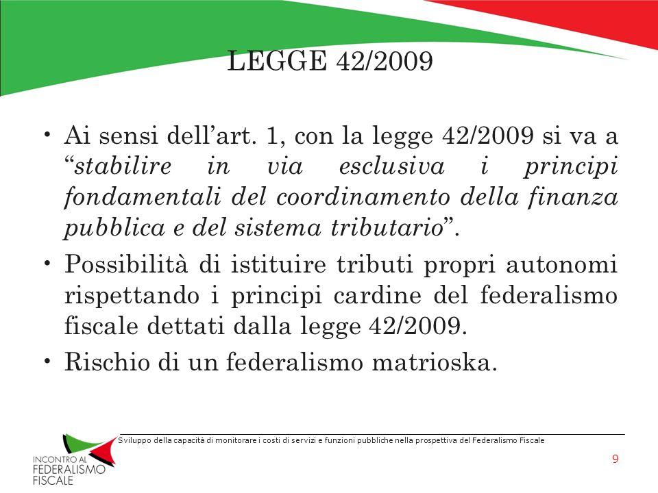 LEGGE 42/2009
