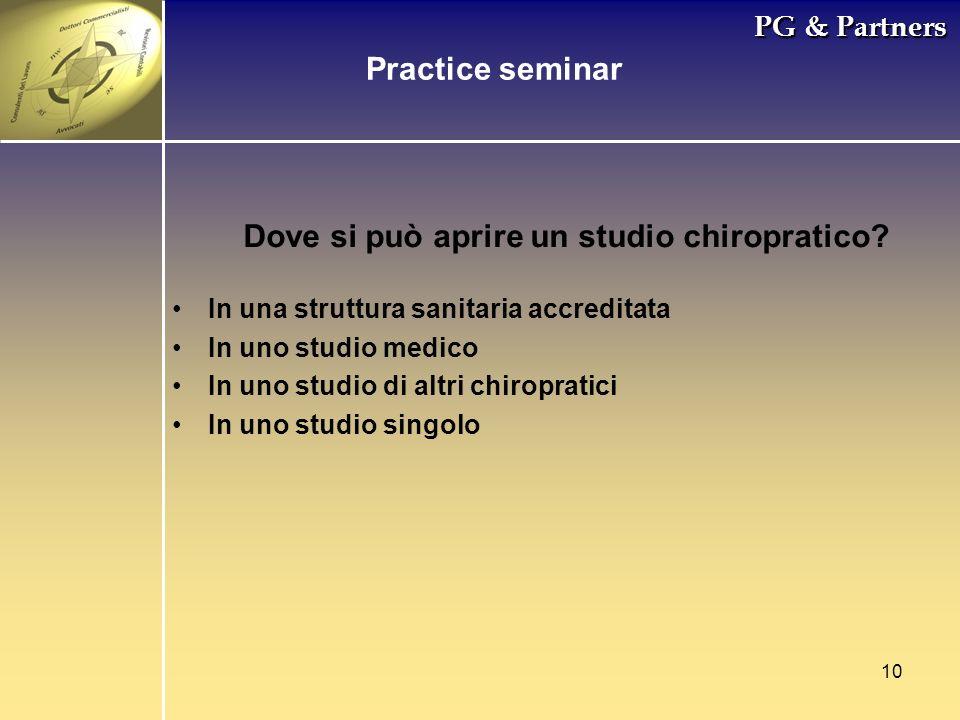 Dove si può aprire un studio chiropratico