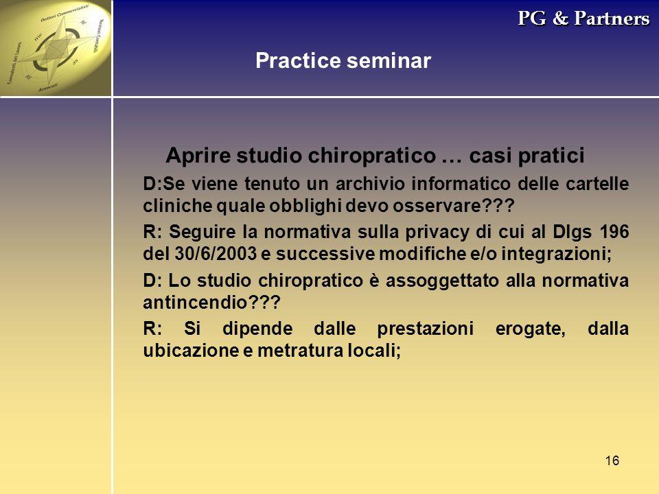 Aprire studio chiropratico … casi pratici
