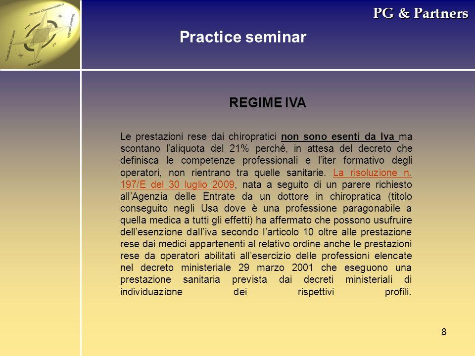 Practice seminar PG & Partners REGIME IVA