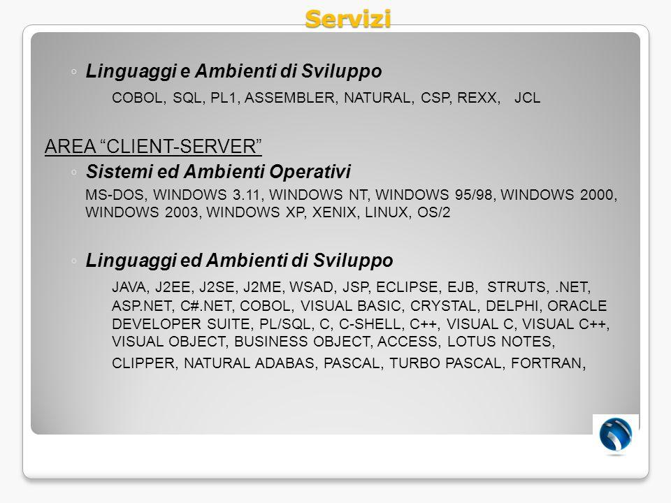 Servizi Linguaggi e Ambienti di Sviluppo