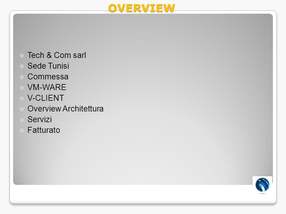 OVERVIEW Tech & Com sarl Sede Tunisi Commessa VM-WARE V-CLIENT