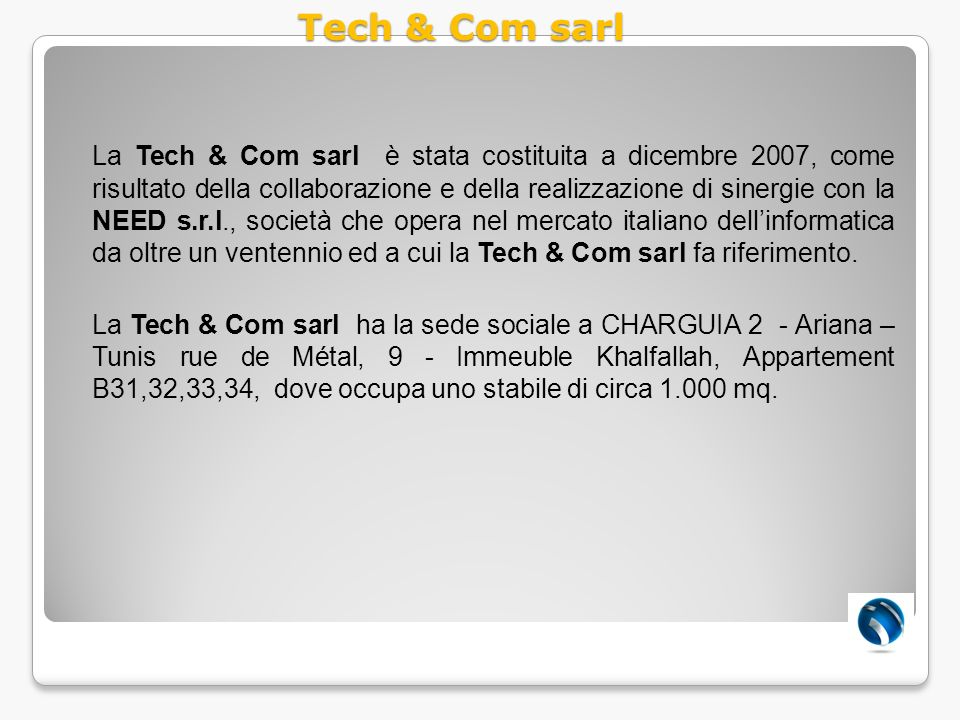 Tech & Com sarl