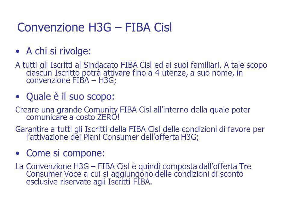 Convenzione H3G – FIBA Cisl