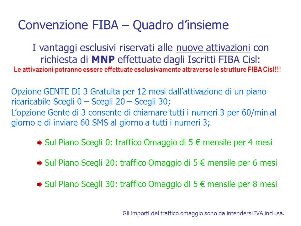 Convenzione FIBA – Quadro d'insieme