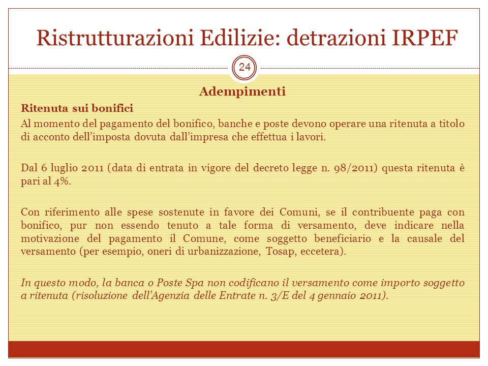 Bonifico Bancario Per Edilizia. Detrazioni Fiscali Per Luedilizia ...
