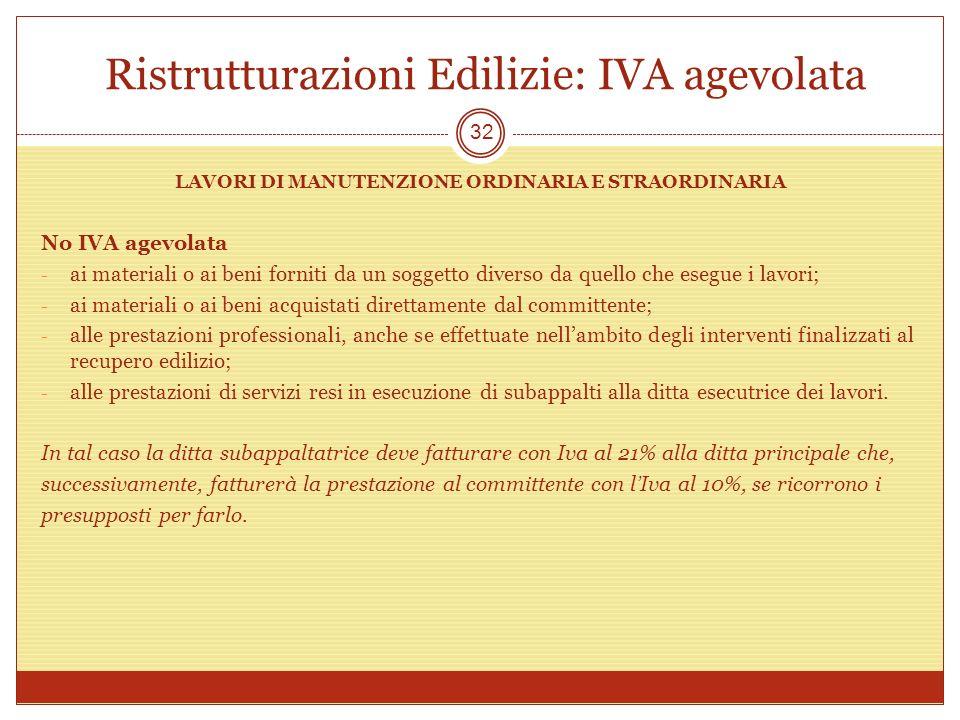 Ristrutturazioni Edilizie: IVA agevolata
