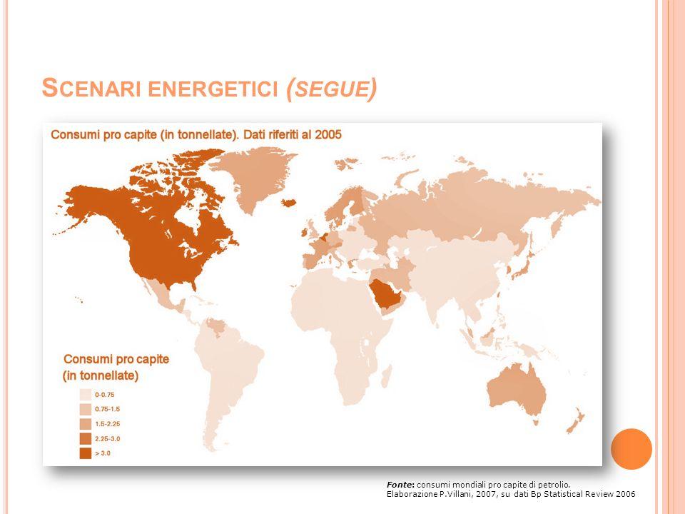 Scenari energetici (segue)