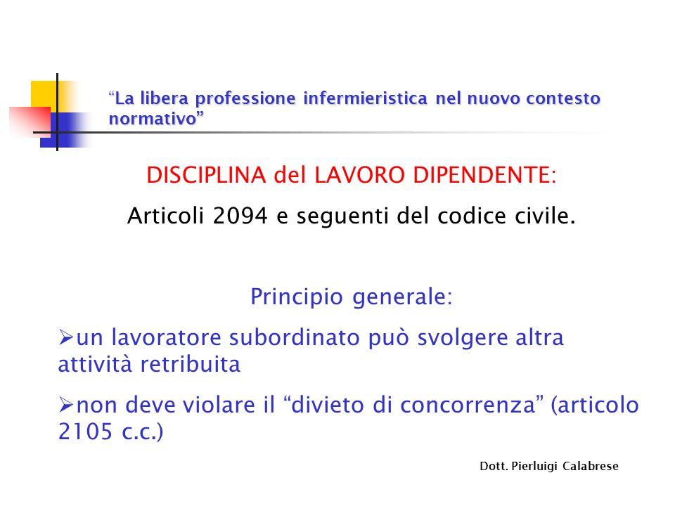 DISCIPLINA del LAVORO DIPENDENTE: