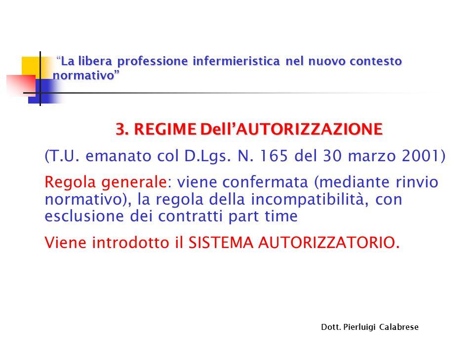 3. REGIME Dell'AUTORIZZAZIONE