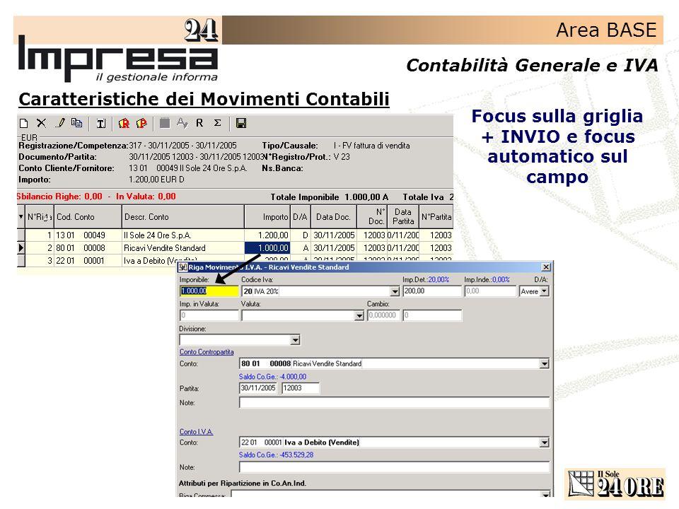 Focus sulla griglia + INVIO e focus automatico sul campo