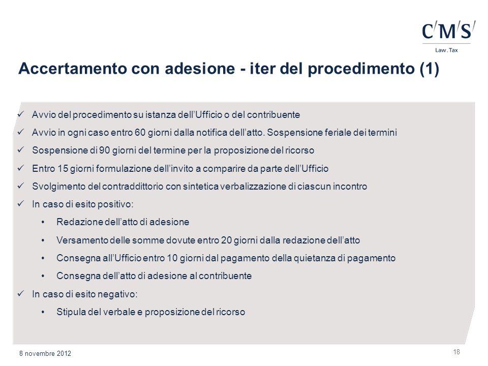 Accertamento con adesione - iter del procedimento (1)