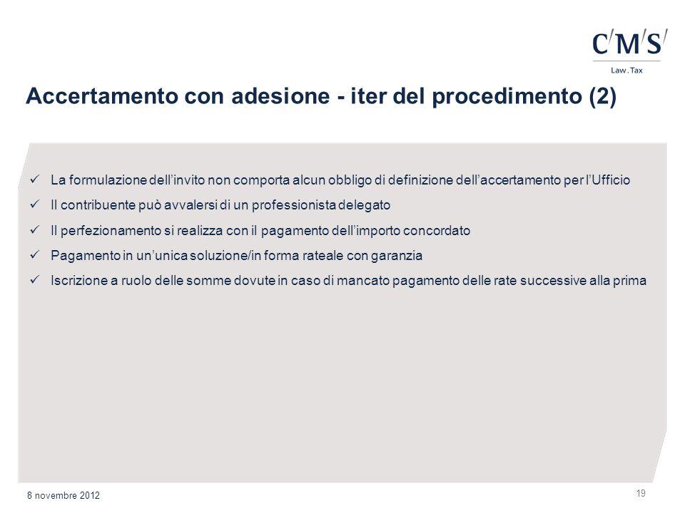 Accertamento con adesione - iter del procedimento (2)