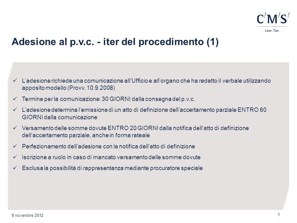 Adesione al p.v.c. - iter del procedimento (1)