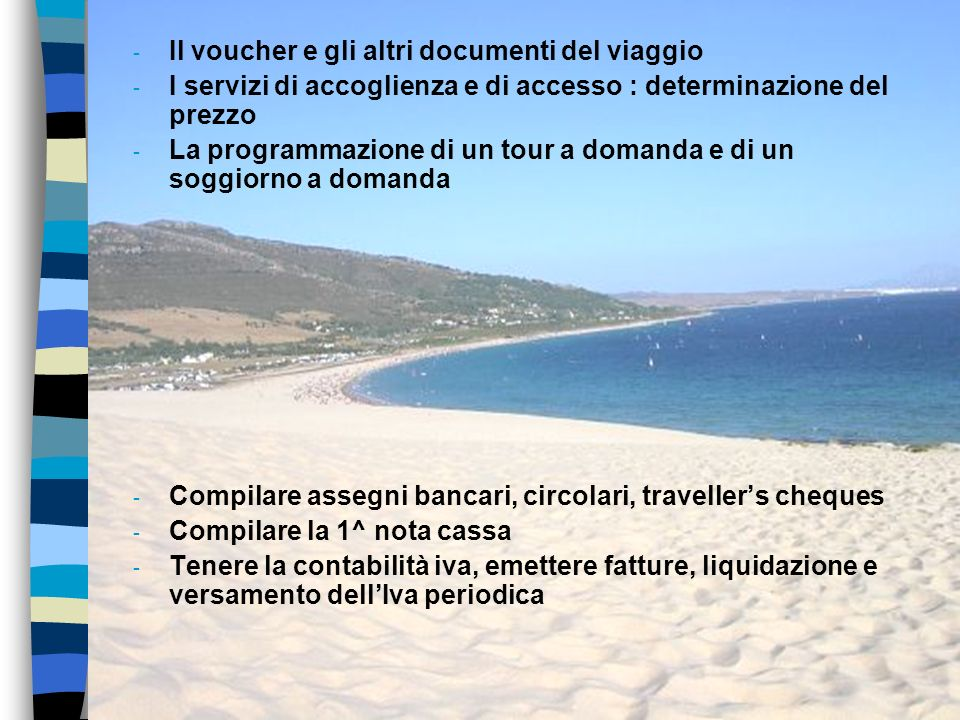 Il voucher e gli altri documenti del viaggio
