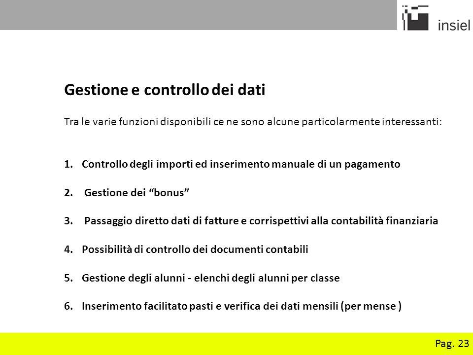 Gestione e controllo dei dati