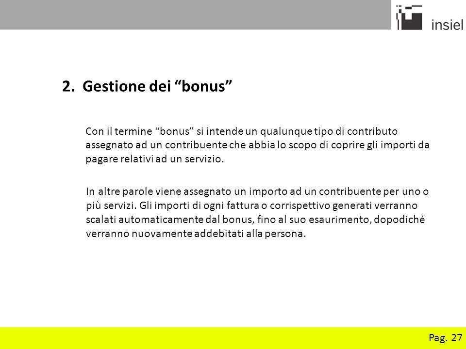 2. Gestione dei bonus