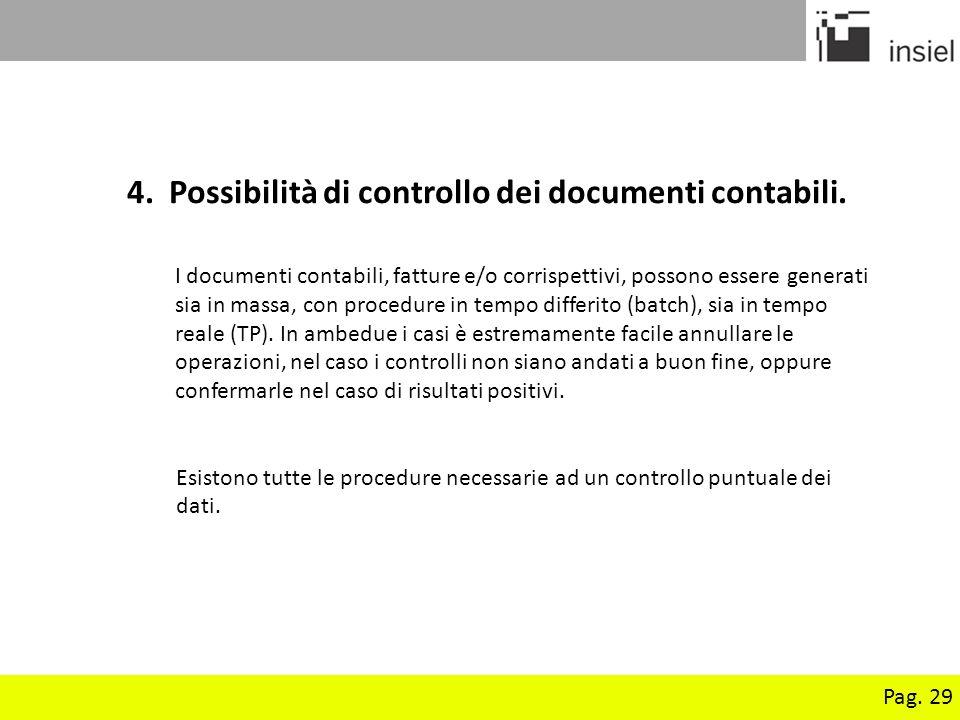 4. Possibilità di controllo dei documenti contabili.