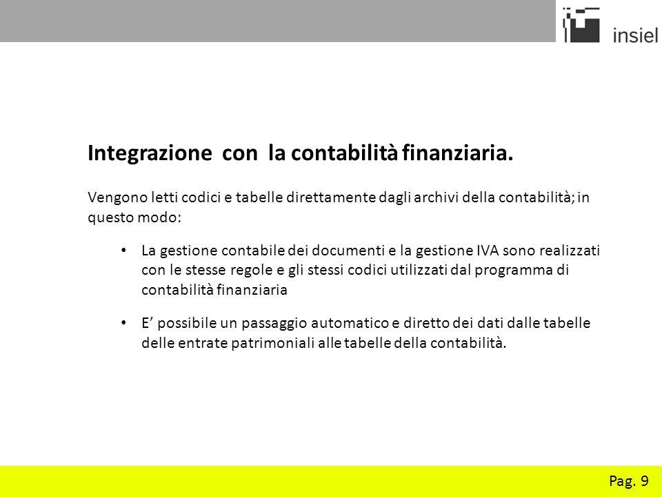 Integrazione con la contabilità finanziaria.