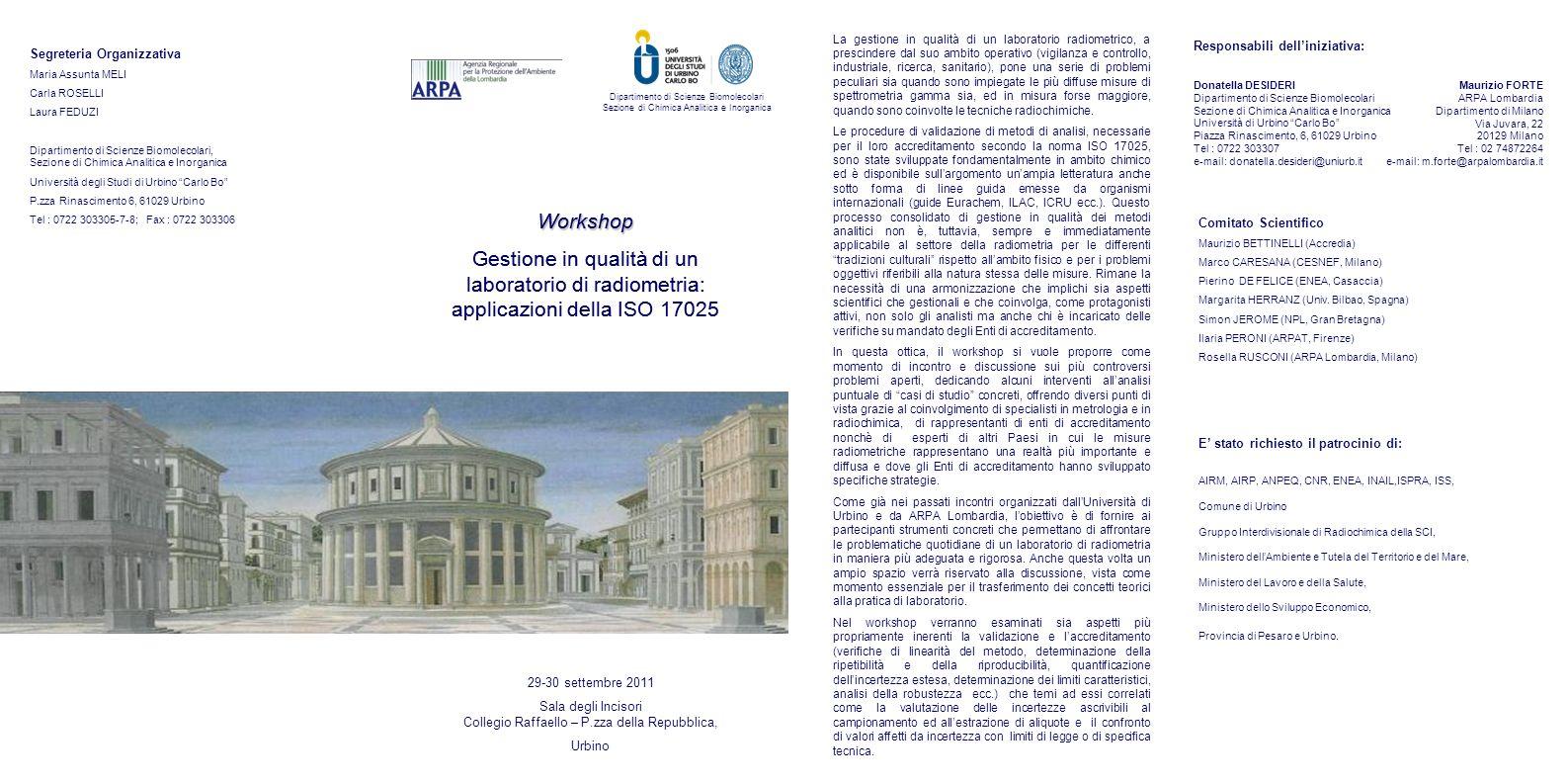 Sala degli Incisori Collegio Raffaello – P.zza della Repubblica,