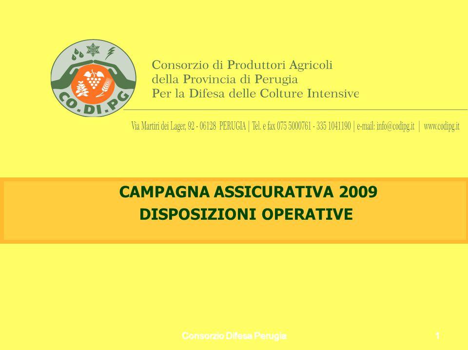 CAMPAGNA ASSICURATIVA 2009 DISPOSIZIONI OPERATIVE