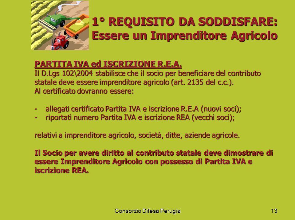 1° REQUISITO DA SODDISFARE: Essere un Imprenditore Agricolo