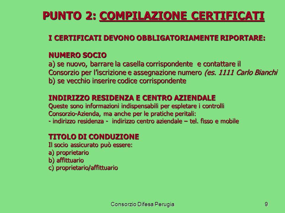 PUNTO 2: COMPILAZIONE CERTIFICATI