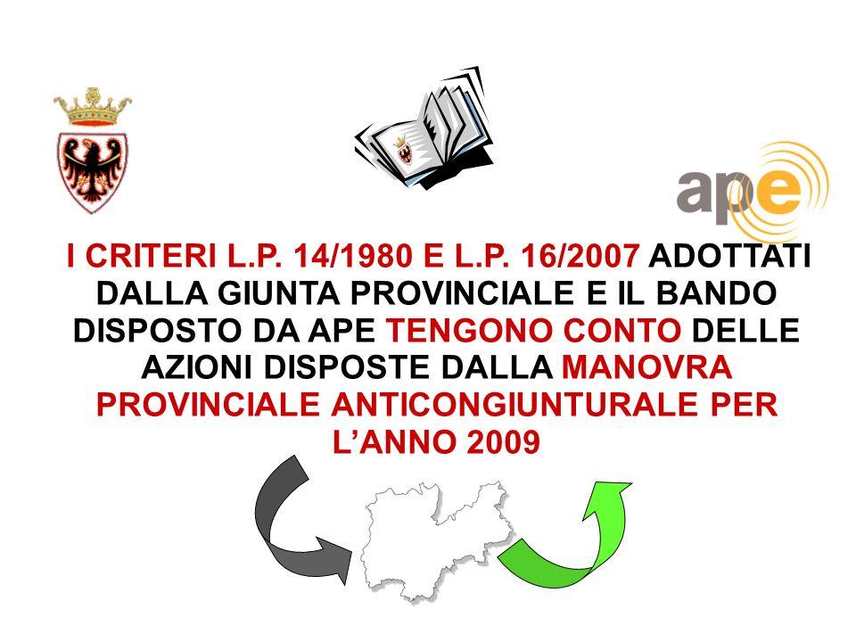 I CRITERI L.P. 14/1980 E L.P.