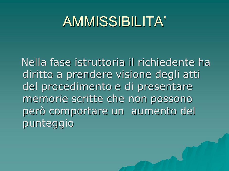 AMMISSIBILITA'