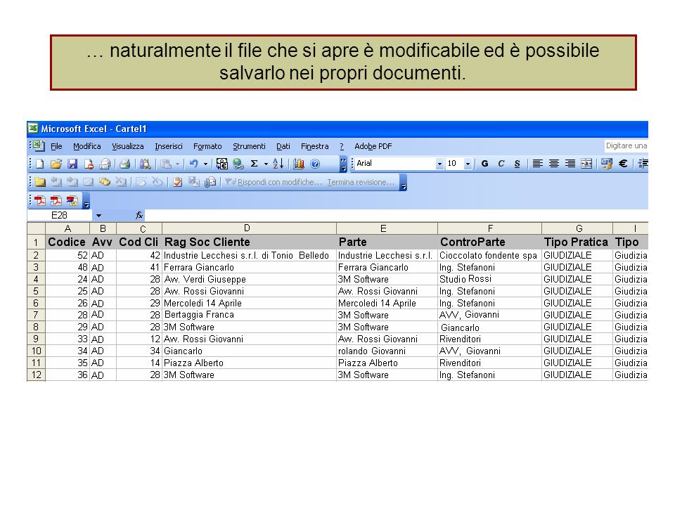 … naturalmente il file che si apre è modificabile ed è possibile salvarlo nei propri documenti.