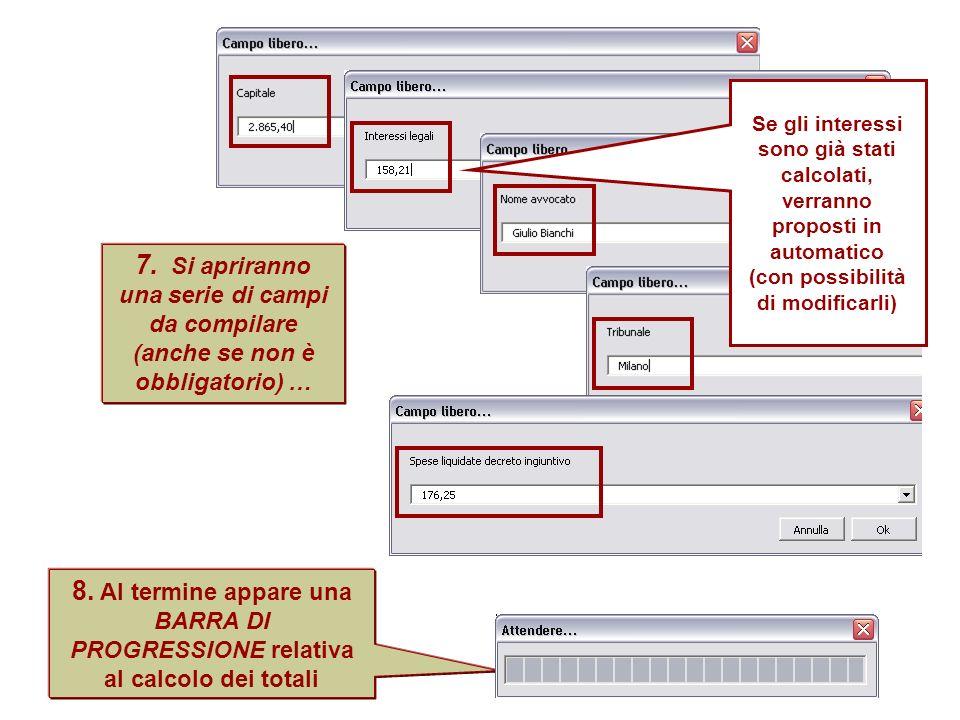 proposti in automatico (con possibilità di modificarli)