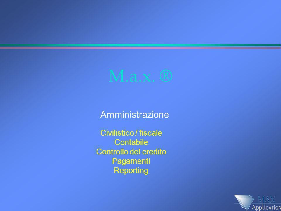 M.a.x. ® Amministrazione Civilistico / fiscale Contabile