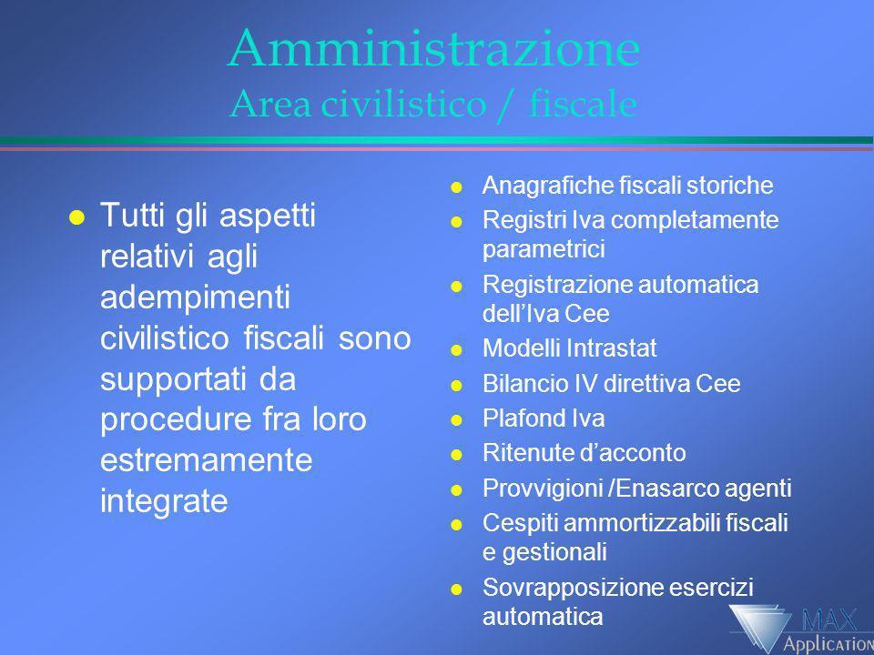 Amministrazione Area civilistico / fiscale