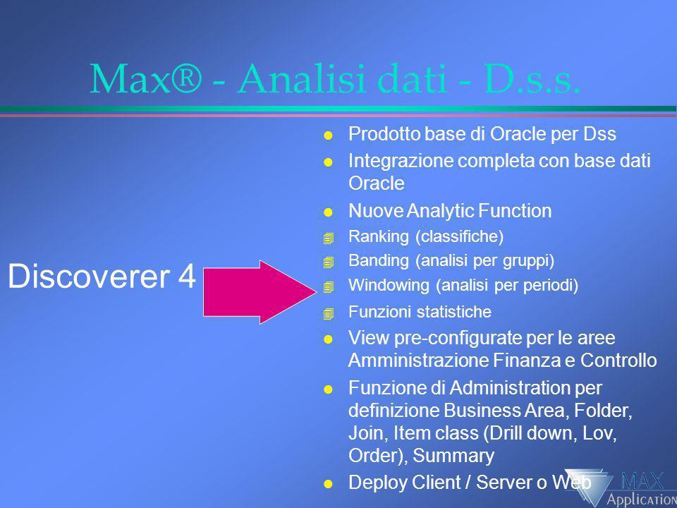 Max® - Analisi dati - D.s.s.