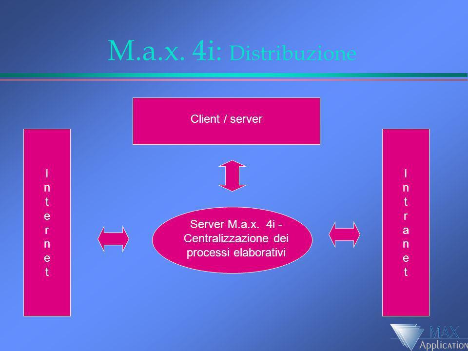 Server M.a.x. 4i - Centralizzazione dei processi elaborativi