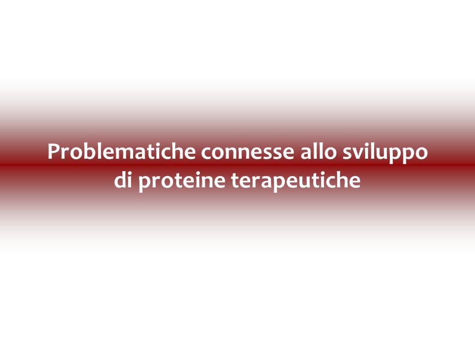 Problematiche connesse allo sviluppo di proteine terapeutiche