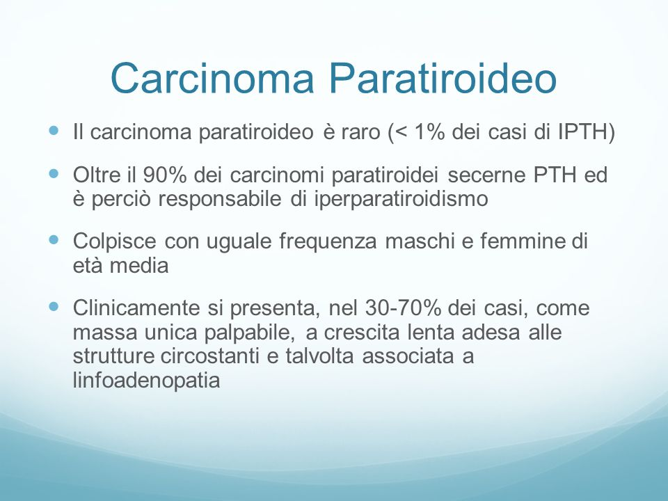 Carcinoma Paratiroideo