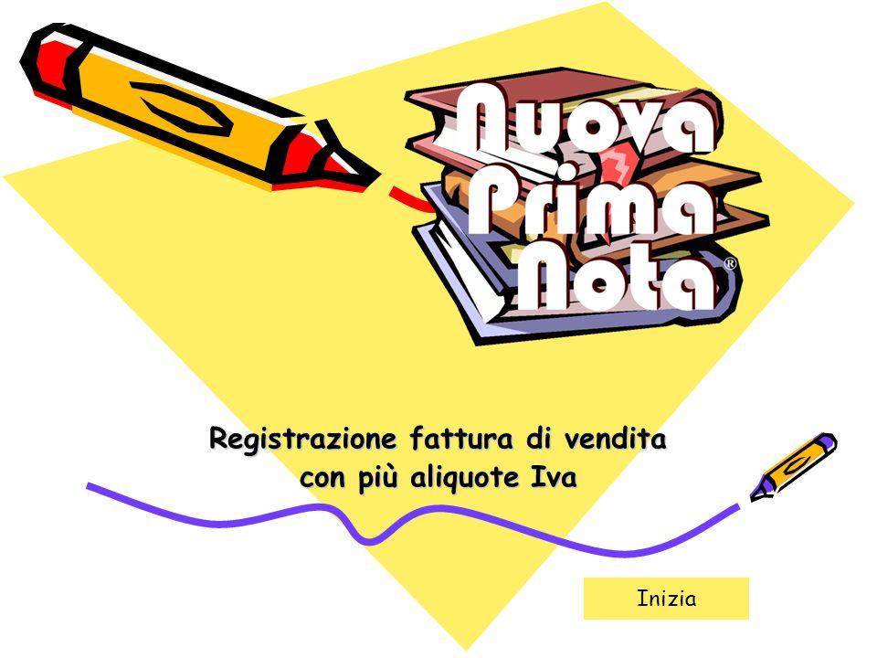 Registrazione fattura di vendita con più aliquote Iva