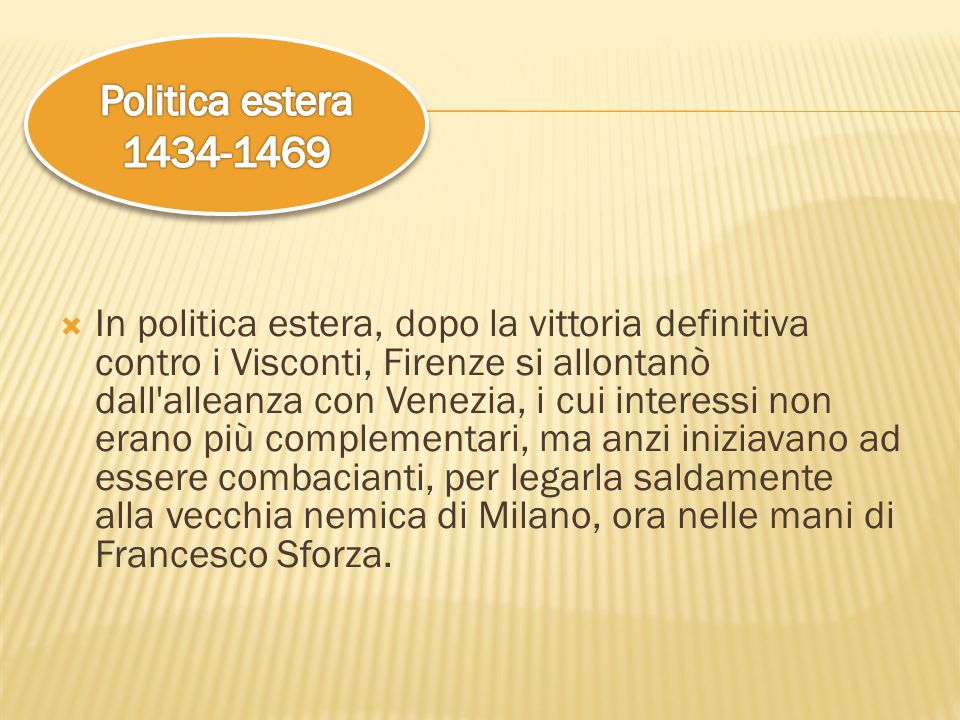 Politica estera 1434-1469