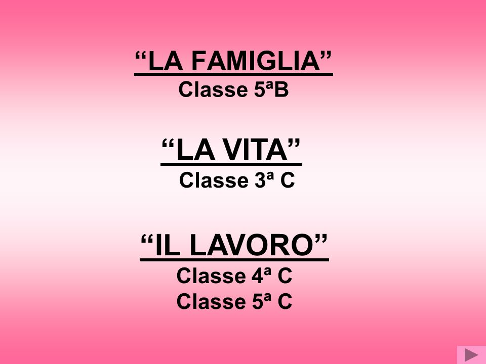 LA FAMIGLIA Classe 5ªB