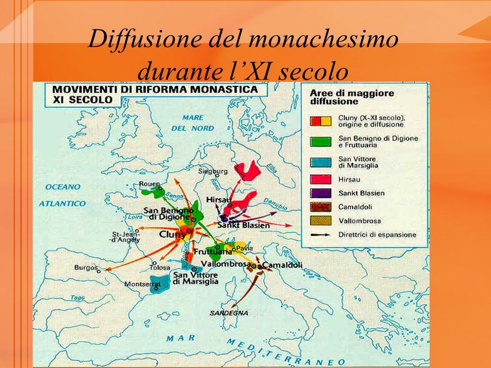 Diffusione del monachesimo durante l'XI secolo