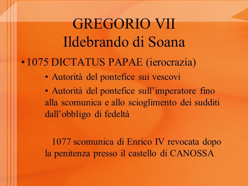 GREGORIO VII Ildebrando di Soana