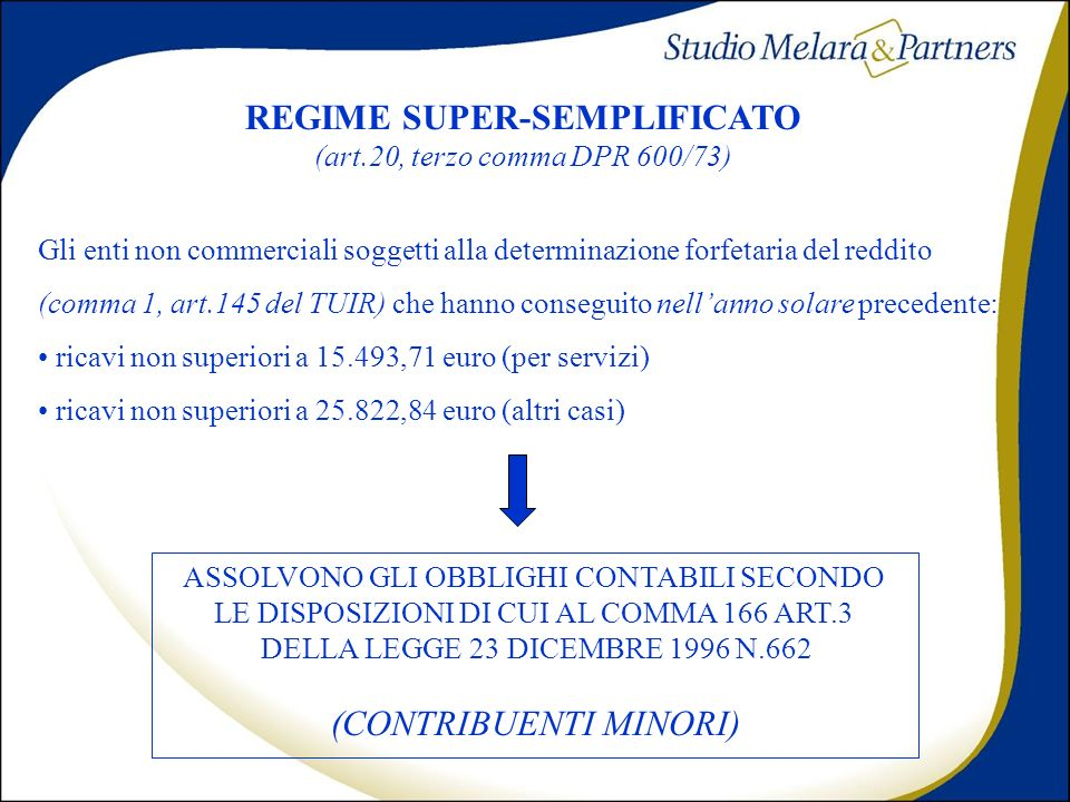 REGIME SUPER-SEMPLIFICATO