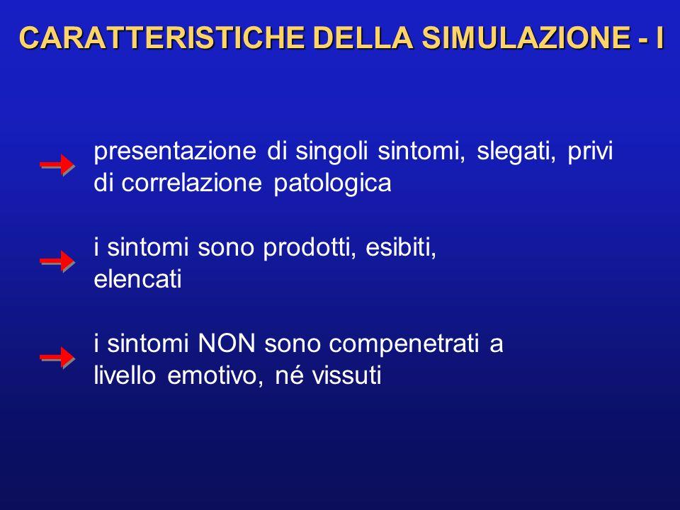 CARATTERISTICHE DELLA SIMULAZIONE - I