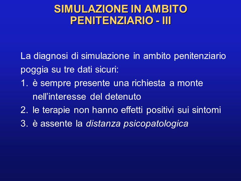 SIMULAZIONE IN AMBITO PENITENZIARIO - III