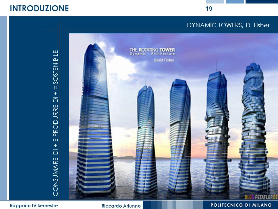 INTRODUZIONE DYNAMIC TOWERS, D. Fisher