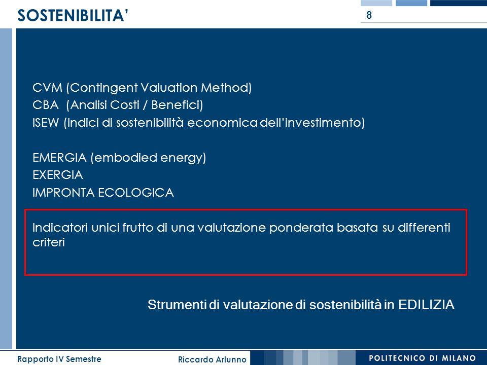 Strumenti di valutazione di sostenibilità in EDILIZIA